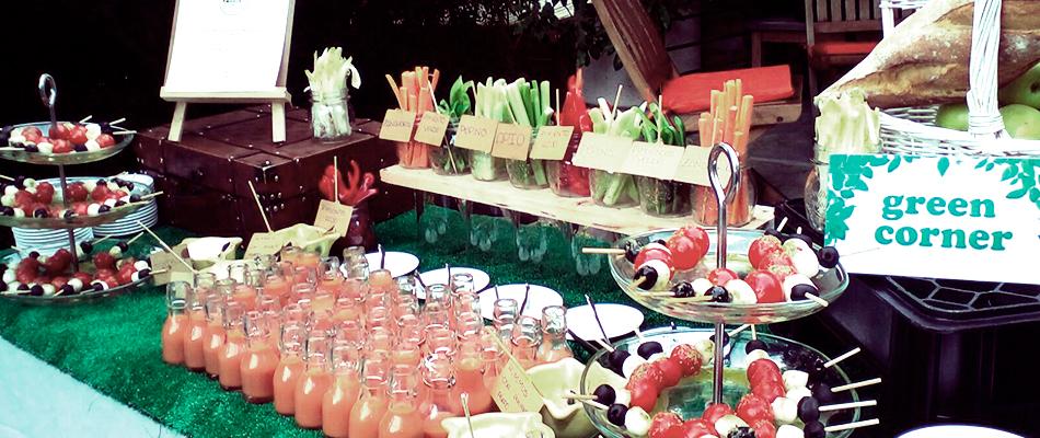 Catering vegano y vegetariano para bodas
